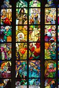 Mucha Window Saint Vitus Cathedral Prague Print by Matthias Hauser