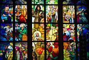 Mucha Window St Vitus Cathedral Prague Print by Matthias Hauser