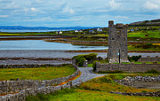 County Clare Framed Prints - Muckinishnoe Tower House Framed Print by Gabriela Insuratelu