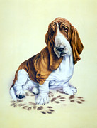 Animal Portraits Prints - Mucky Pup Print by Andrew Farley