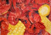 Boiled Crawfish Paintings - Mud bugs by Bobby Walters