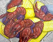 Louisiana Crawfish Posters - Mud Bugs Poster by JoAnn Wheeler