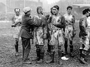 Rugby League Metal Prints - Muddy Players Metal Print by Hulton Collection