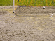 Puddle Prints - Muddy Soccer Field Print by Andersen Ross