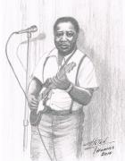Helen Drawings Framed Prints - Muddy Waters  2 Framed Print by Helen Thomas