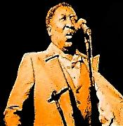 Music Portraits Art - Muddy Waters by Jeff DOttavio