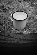 Great Outdoors Photos - Mug Of Tea With Rain Falling In It Outside The Front Of A Tent by Joe Fox
