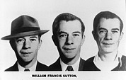 Fbi Photo Prints - Mug Shots Of Willie Sutton 1901-1980 Print by Everett