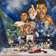Boxing Paintings - Muhammad Ali  by Alasmar