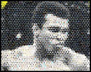 Boxer Mixed Media - Muhammad Ali Butterfly Bee Mosaic by Paul Van Scott