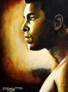 Sports Art Paintings - Muhammad Ali by Cheryl Riley