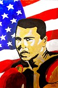 Ali Painting Originals - Muhammad Ali by Estelle BRETON-MAYA