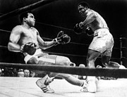 Ali Photos - Muhammad Ali Knocked Down By Joe by Everett