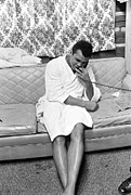 Bathrobe Photos - Muhammad Ali on Phone by Jan Faul