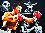 Cassius Clay Paintings - Muhammad Ali The Greatest by Hector Monroy
