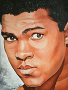 Cassius Clay Paintings - Muhammad Ali by Timothe Winstead