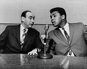 Microphones Prints - Muhammed Ali And Howard Cosell Print by Everett