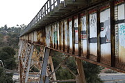 Railroads Framed Prints - Muir Railroad Trestle in Martinez California . 7D10237 Framed Print by Wingsdomain Art and Photography