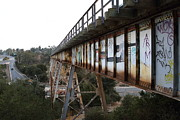 Railroads Framed Prints - Muir Railroad Trestle in Martinez California . With Highway . 7D10238 Framed Print by Wingsdomain Art and Photography