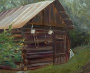 Shed Painting Prints - Mulberry Farms Grainery Print by Donna Tuten