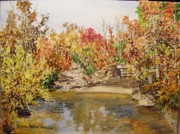 Mulberry River In Fall Print by Sharon  De Vore