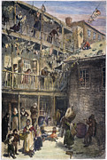 W.a Framed Prints - Mulberry Street, Nyc, 1879 Framed Print by Granger