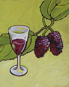 Vine Leaves Originals - Mulberry Wine  by Sandy Tracey