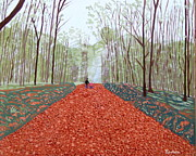 Eamon Reilly Prints - Mullaghmeen Forest in autumn time Print by Eamon Reilly