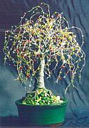 Tr Sculptures - Multi Color Oak - Wire Tree Sculpture by Sal Villano