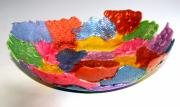 Wall Art Ceramics Originals - Multi-Color Soft Bowl by Alene Sirott-Cope