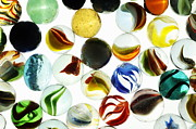 Variation Art - Multi-colored marbles by Sami Sarkis