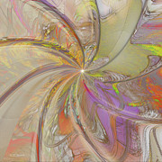 Artistic Digital Art - Multi Colored Pinwheel by Deborah Benoit