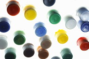 Variation Art - Multi-colored small plastic paint pots by Sami Sarkis