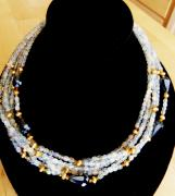 Czech Jewelry - multi strand Czech glass necklace by Jan Durand