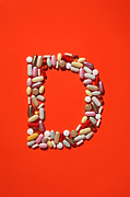 Healthcare And Medicine Art - Multi-vitamin Pills And Capsules by Nicholas Eveleigh