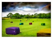 Bales Photo Metal Prints - Multicolored Bales Fantasy Metal Print by Mal Bray