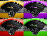 Auto Art Prints - Multicolored Belair clock Print by Paul Ward