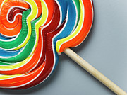 Unhealthy Eating Posters - Multicoloured Lollipop, Close-up Poster by Jeffrey Hamilton