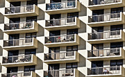 Apartment Framed Prints - Multiple Balconies Framed Print by Roevin