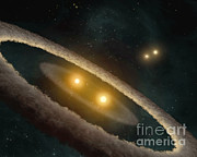 Hd Posters - Multiple Star System Poster by Nasa