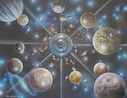 Cosmology Paintings - mULTIVERSE 216 by Sam Del Russi