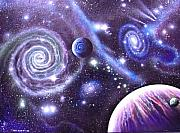 Cosmology Painting Prints - mULTIVERSE 219 Print by Sam Del Russi