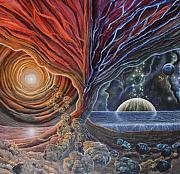 Visionary Art Painting Prints - Multiverse 3 Print by Sam Del Russi