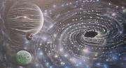 Cosmology Painting Prints - Multiverse 584 Print by Sam Del Russi
