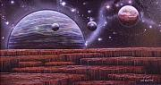 Cosmology Painting Originals - Multiverse 7 by Sam Del Russi