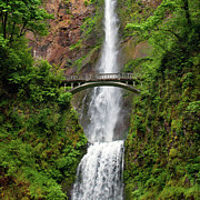 Arch Bridge Photos - Multnomah Falls by Crady von Pawlak