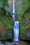 Falls Art - Multnomah Falls by John Absher
