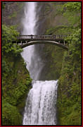 Layered Digital Art Posters - Multnomah Falls Oregon Poster by Gary Grayson