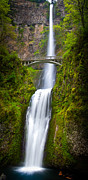 Beautiful Creek Framed Prints - Multnomah Panorama Framed Print by Inge Johnsson