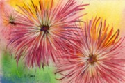 Mums Paintings - Mums by MaryAnn Cleary